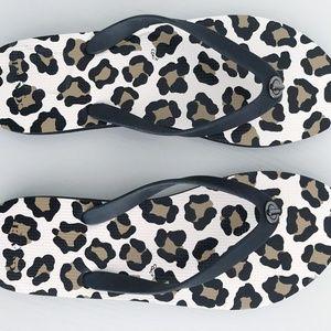New Coach Leopard Print Flip Flops Sz 9-10